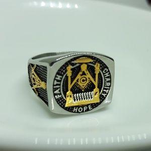 Other - Masonic Ring Faith Charity Hope Master Mason Ring